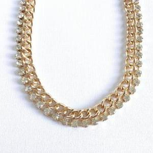 Chunky Chain Gold Necklace - Chain ..