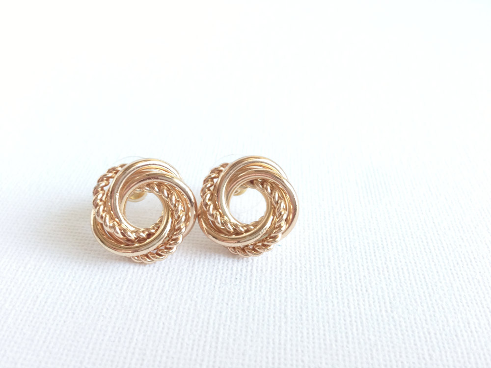 Gold Spiral Earrings - Designer Inspired - Gold Stud Earrings ...